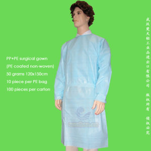 Disposable PP+PE Surgeon Gown pictures & photos