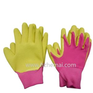 Children′s Colorful Gardening Gloves Foam Latex Palm Coated Work Glove pictures & photos