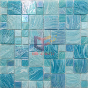 Lake Blue Iridescent Color Glass Swimming Pool Mosaic (CSJ120) pictures & photos