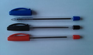 White Berral Stick Ball Pen with Colorful Pen Cap pictures & photos