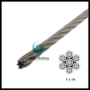 304 Type Stainless Steel 7*19 Aircraft Cable for Sale pictures & photos
