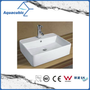 Ceramic Cabinet Art Basin and Wall Hung Hand Washing Sink (ACB8325) pictures & photos
