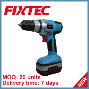 Fixtec 10mm 12V 0-550rpm Low Viable Speed Cordless Drill Set pictures & photos
