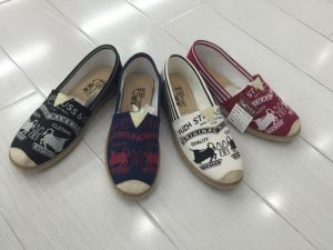 Canvas Shoes Woman Shoes Tomos Shoes pictures & photos