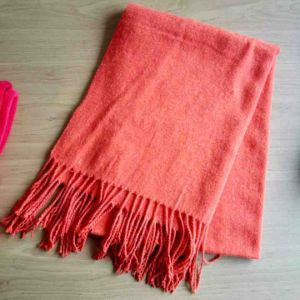 Arylic Knitting Plain Throw for Autumn and Winter
