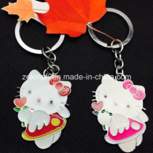 Custom Cute Cat Shape Metal Keyring Set pictures & photos