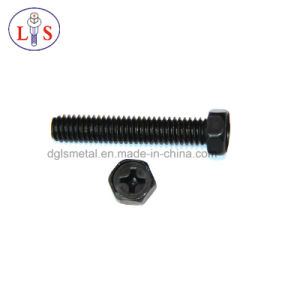 Cross Recess Outer Hexagon Socket Machine Screw pictures & photos