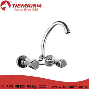 Wall Mounted Dual Handle Kitchen Faucet (ZS63602-553)