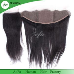 9A Brazilian Virgin Hair Straight Silk Base Frontal with 2/3 Bundles Straight Hair Silk Frontal Closure pictures & photos