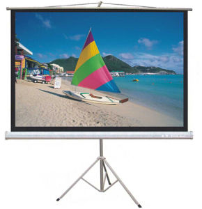 60 Inch-150 Inch Tripod Projector Screen Portable Projection Screen pictures & photos