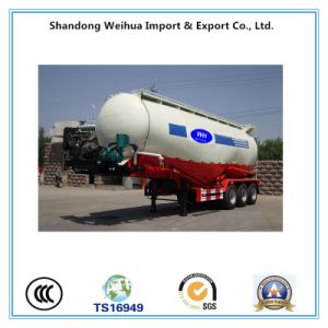 Tri-Axle Bulk Cement Semi Trailer with 3 Axles From Manufacturer pictures & photos