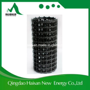 Haisan Unidirectional 80kn Plastic PP Geogrid Used in Retaining Wall pictures & photos