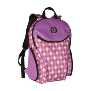 Purple Female Girl Plaid Sport Backpack for College Student pictures & photos