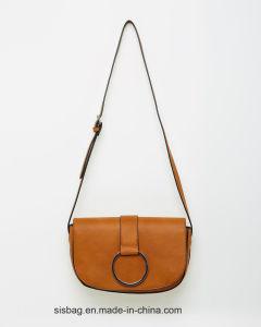 Designer Crossbody Bag PU Leather Saddle Bag pictures & photos
