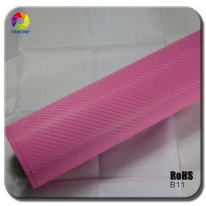 Tsautop 3D Carbon Fiber Vinyl for Car Wrapping& Pink B11 pictures & photos