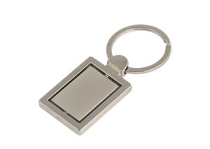 Customzied Rotated Spinning Metal Imprint Laser Logo Key Chain (F1075) pictures & photos