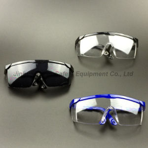 ANSI Z87.1 Clear Lens and Blue Frame Safety Glasses (SG100) pictures & photos