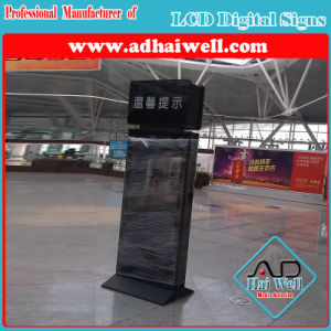 Slim WiFi Station 42 Inch Floor Standing LCD Digital Advertising Screen pictures & photos