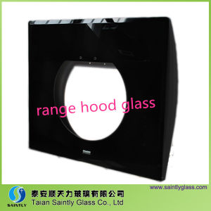 Tempered Beveled Printing Safety Glass for Range Chimney pictures & photos
