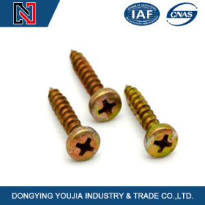 Low Price Metal Made in China Cross Recessed Round Head Wood Screws pictures & photos