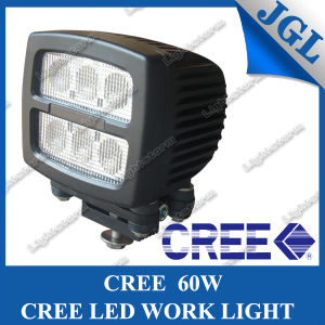 Square 60W CREE LED Work Light for Heavy Duty, High Quality Waterproof 6*10W CREE LED Work Lamp