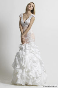 New Style Full Length a-Line V-Neck Long Sleeve Lace Cheap Wedding Dresses with Detachable Sash (LD1021)