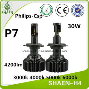 Philips P7 30W 4200lm H4 H11 LED Car Headlight pictures & photos