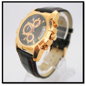 Chronograph Men′s Leather Watches pictures & photos