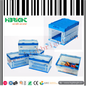 Solid Stackable Plastic Turnover Box pictures & photos