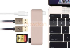 5 in 1 Combo Type C USB 3.0 USB C Hub Micro SD/SD Card Reader with Charging Port for MacBook 12 Inch 13 Inch pictures & photos