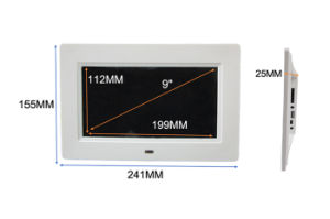 Thin Bezel 9 Inch Display Electric Digital Photo Frame Video Free Download (MW-091DPF) pictures & photos