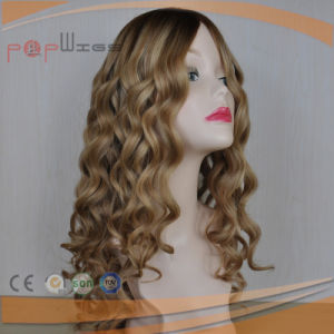 Blond Curly Silk Top Lace Wig (PPG-l-0637) pictures & photos