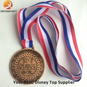 Free Mold Metal Sport Medals with Ribbon pictures & photos