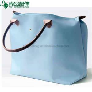 Foldaway Ladies Handbags Polyester Foldable Tote Bags Folding Beach Bag pictures & photos