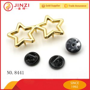 Factory Custom Double Star Shape Metal Pin Badge pictures & photos