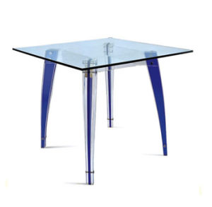 Customized Factory Directly Sale Elegant Acrylic Dining Table and Chair pictures & photos