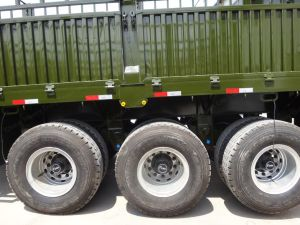 3 Alxe 50 Ton Stake Fence Semi Trailer Truck Trailer Tractor pictures & photos