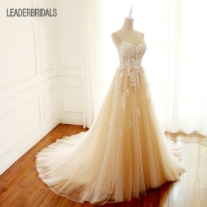 Spaghetti Straps Wedding Gowns Sweetheart Lace Bridal Wedding Dress Lb18129 pictures & photos