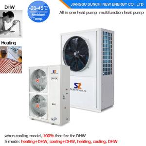 Evi Tech. -25c Winter Floor Heating 100~350sq Meter Room 12kw/19kw/356kw Auto-Defrost High Cop Split Air Source Heat Pump Units pictures & photos