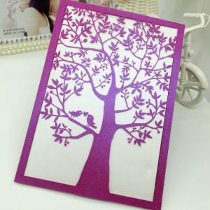 Direct Factory Wholesale Laser Cut Wedding Invitation Card pictures & photos