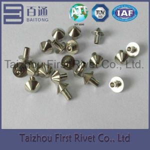 3X4.58mm Nickel Plated Mushroom Head Semi Tubular Steel Rivet