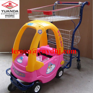 Manufacturer Cheap Supermarket 6 Wheel Kids Shopping Trolley pictures & photos