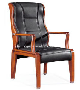 China Black Leather Side Chair (FOH-F26) pictures & photos