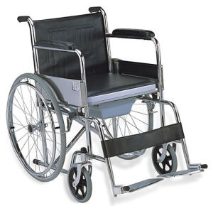 Steel Foldable Commode Wheelchair (SC-CW08(S)) pictures & photos