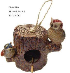 Porcelain Garden Bird House (D8-010444)