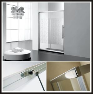 One Fixed One Sliding Shower Door Tempered Glass Shower Enclosure Sliding Shower Screen Bathroom Shower Cabin pictures & photos