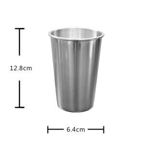 Promoyional Unique Cone Shape Stainless Silver Mug Blank Supplier pictures & photos