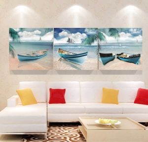3 Piece Modern Wall Art Printed Painting Boat Painting Room Decor Framed Art Picture Painted on Canvas Home Decoration Mc-251 pictures & photos