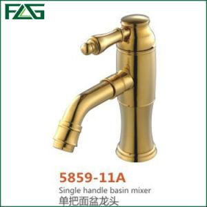 Flg Golden Faucet Single Handle Bath Basin Mixer Tap/Faucet pictures & photos