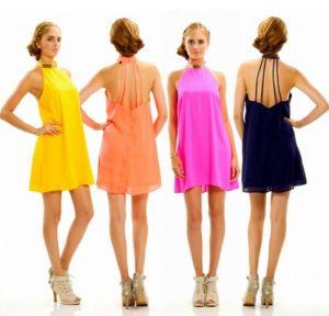 2016 Wholesale Factory Hot Sale Fashion Plain Colorful Pleat Maxi Women′s Dress pictures & photos